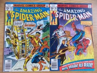 Amazing Spider Man #183 & 184 (1978) 9.2 HIGH GRADE Bronze Age; Stan