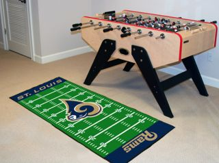 Rams NFL 29 x 72 Football Field Runner Area Rug Floor Mat