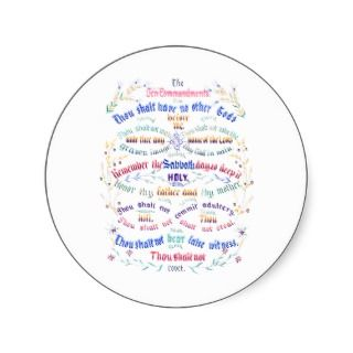 The Ten Commandments ~ Vintage Art Sticker