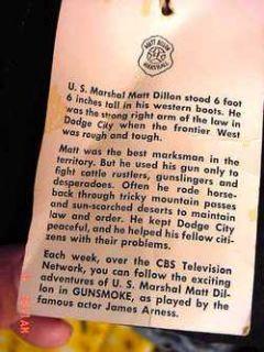Matt Dillon Gunsmoke Cowboy Jacket New Old Stock Sz 6