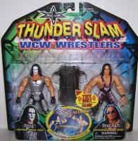 WCW Toy Biz Thunder Slam Wrestlers 2 Pack Sting Bret Hart New WWE WWF