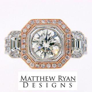 ring in 18k white rose gold matthew ryan designs exclusive
