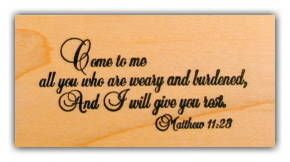 Matthew 11 28 Christian Bible Verse Mounted Rubber Stamp 1 Scripture