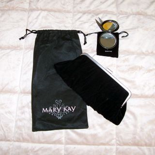 Mary Kay Black Velvet Clutch Purse w Compact Mirror New Hostess Gift