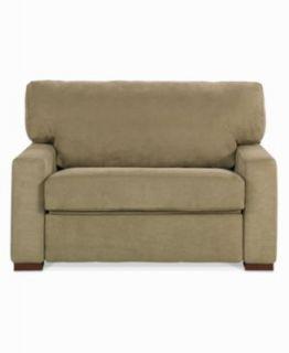 Alexis Fabric Sofa Bed, Twin Sleeper 55W x 41D x 37H