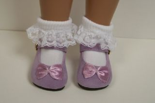 Lavender Suede Mary Jane Doll Shoes for 16 17 Sasha♥