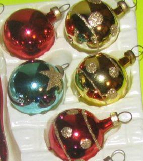 Kurt Adler Kringle Glass Tiny Christmas Tree Topper 20 Ball Ornaments