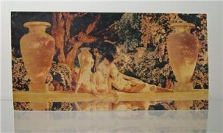 Circa 1918 Maxfield Parrish 16x8 Garden of Allah Art Deco Print Only