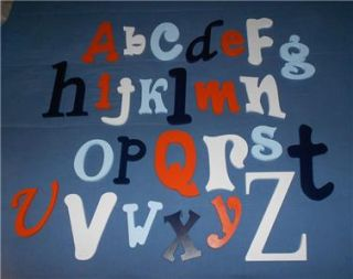 Complete Alphabet Set Various Fonts Sizes Painted Wooden Wall Letters