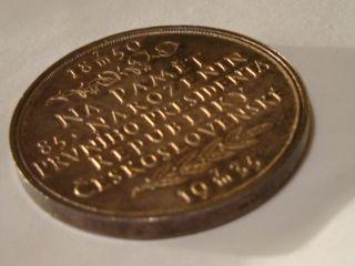 1935 Czechoslovakia Tomas Masaryk Silver Medal in Box UNC by O Spaniel