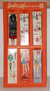 1963 Mattel Barbie and Ken Doll Counter Pop Display