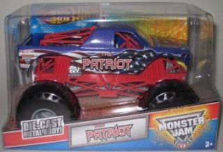 Wheels Monster Jam 2012 The Patriot 1 24 Scale Diecast Truck Mattel