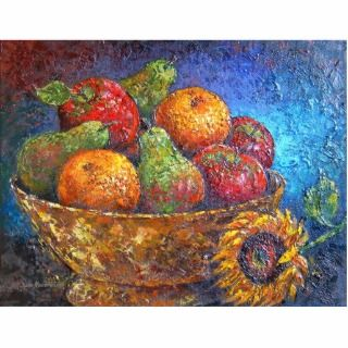 Fruit Basket Painting Art   Multi Cut Out