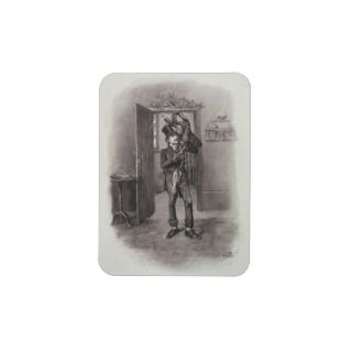 Bob Cratchit and Tiny Tim, Charles Dickens Rectangle Magnet