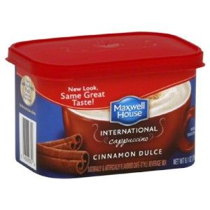 Two Maxwell House International Coffee Cinnamon Dulce Cappuccino 2 x 9