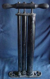 Antique Air Tire Hand Pump 3 Triple Cylinder M Maxwell 1900 Car