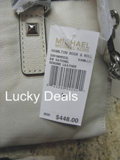 MICHAEL KORS Hamilton ROCK & ROLL SATCHEL HANDBAG VANILLA LOCK w Dust