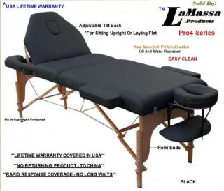 New Massage Table Portable   Four Color Choices w/Adjustable Tilt Back