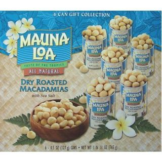 Mauna LOA Dry Roasted Macadamia Nuts 6 Can Gift Set