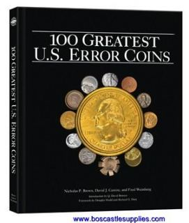 100 Greatest U s Error Coins Great Gift by Whitman