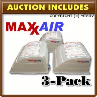 MAXXAIR Vent Cover 3 PACK TRANS WHITE   Brand New Maxx Max Air RV