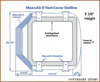 Maxxair II RV Vent Cover TRANS WHITE 1 PACK   Brand New Max Air 2