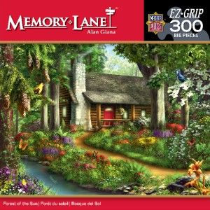 Masterpieces Forest of The Sun Jigsaw Puzzle 300 Big Easy Grip Pieces