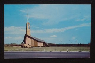 1950s St Paul Lutheran Church McAllen TX Hidalgo Co Postcard Texas