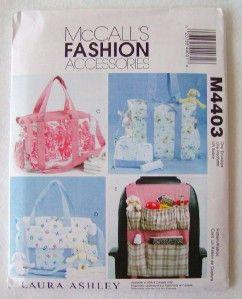 McCalls Pattern 4403 Baby Diaper Bag Car Organizer