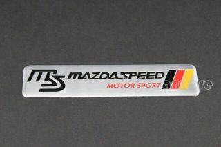 Mazda Speed MS Emblem Badge Decal Sticker 3 5 6 RX7 RX8 MX5 Miata MX6