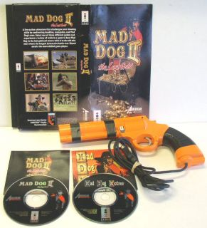MAD DOG McCREE & MAD DOG II   THE LOST GOLD w/ LIGHT GUN PANASONIC 3DO