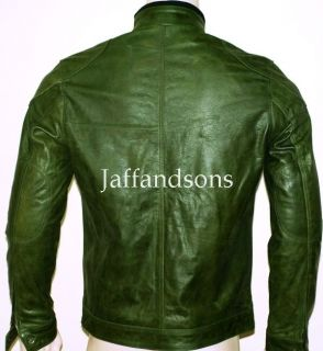 Wanted James McAvoy Green Genuine Leather Jacket All Sizes Custom Made