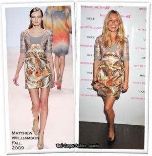 Stunning BNWT $1200 Matthew Williamson Brocade Skirt
