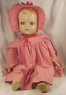 Madame Alexander Baby McGuffey Composition Doll Vintage 22in