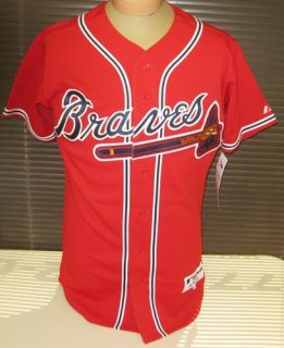 Brian McCann Signed Authentic Red Atlanta Braves Jersey