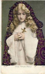 Actress Miss Maude Fealy w Fabric Shawl Postcard VP6318