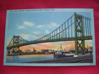 High Level Bridge Maumee River Toledo Ohio Postcard