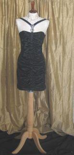 Jessica McClintock 54031 Black Taffeta Dress 4