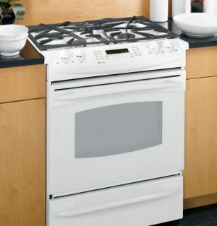 Profile WHITE 30 GAS Slide In Dual Fuel Convection Range P2S975WEMWW