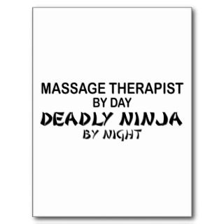 Massage herapis Deadly Ninja by Nigh Pos Cards