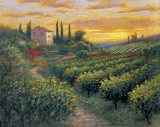 Tuscan Vineyard Landscape Jon McNaughton Framed Picture