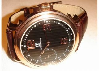 New Maurice Blum Mens Mechanical Rose Gold Tone Steel Watch $1769 MSRP