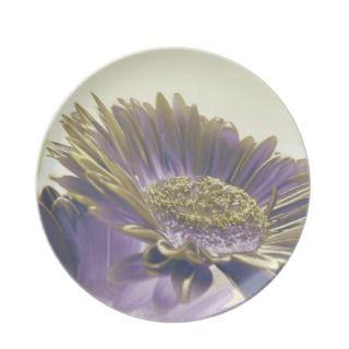 Royal Purple Floral Plates
