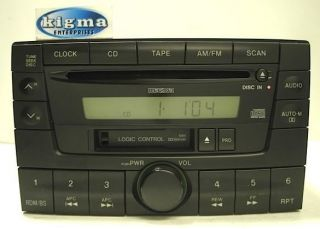 Mazda MPV 2000 2001 CD Tape Player 1284 Combo Tested NG