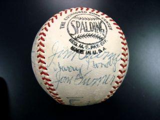 Beautiful 1940 Cincinnati Reds Team Signed Baseball World Champs JSA