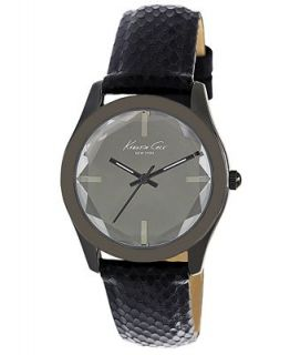 Kenneth Cole New York Watch, Womens Black Leather Strap 36mm KC2669