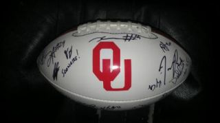 2012 Ou Oklahoma Sooners Team Signed Football Certificate Proof