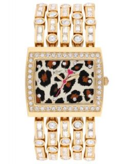 Betsey Johnson Watch, Womens Gold Tone Five Row Bracelet 33mm BJ00166