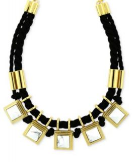 Laundry Necklace, Two Tone Crystal Wide Collar Bib Necklace   Fashion
