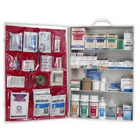 First Aid Kit Industrial 4 Shelf OSHA Approved Fill
